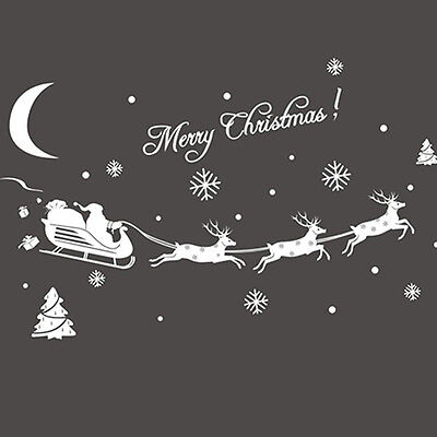 Quality Christmas Home Decor Window Christmas Stickers Decal Decoration