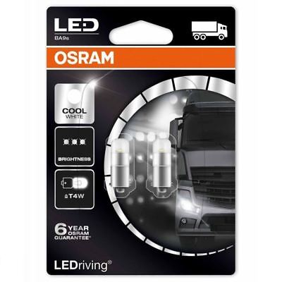 Used, Osram LED T4W Interior Bulbs Cool White 6000K 233 BA9s 3924CW-02B Twin Pack for sale  Shipping to United States