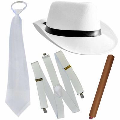 - Mafia - Kostüm - Set - Deluxe | Gangster Weiss | Fasching (Delux Kostüme)