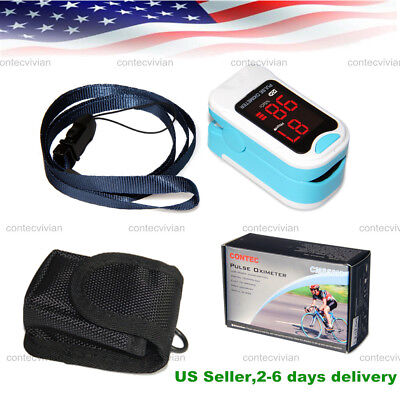 Led Fingertip Finger Pulse Oximeter Oxymetre Spo2 Pr Blood Oxygen Meter Monitor