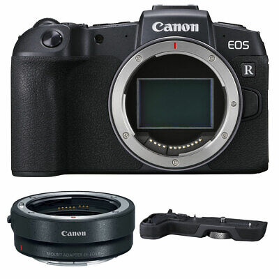 Canon EOS RP Mirrorless Camera with EF-EOS R Adapter + EG-E1 Scope Grip New
