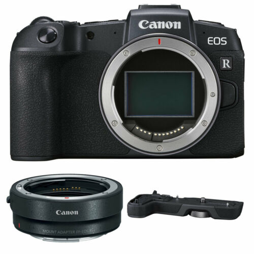 Canon EOS RP Mirrorless Camera with EF-EOS R Adapter + EG-E1 Extension Grip New