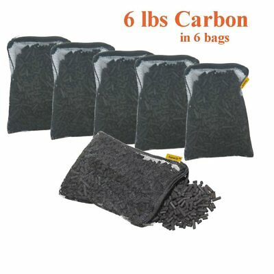 Carbon Pond Filter (Activated Charcoal Carbon in 6 Mesh Bags Aquarium Pond Canister Filter 6)