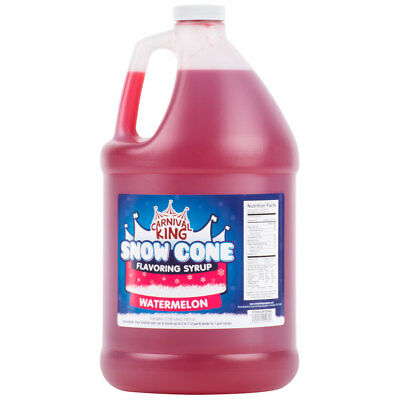1 Gallon - Carnival King - Watermelon Snow Cone Syrup - Shaved Ice Slushy Flavor