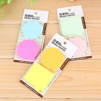 Dialog Box Cloud Self-adhesive Memo Pad Paper Sticky Note Page Marker Planner Cn
