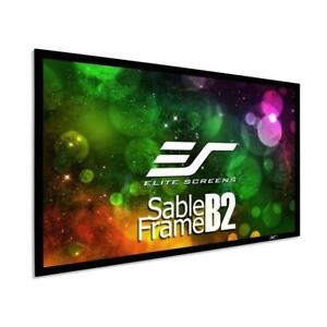 NEW Elite Screens Sable Frame B2, 110-INCH Diag. 16:9, Active 3D 4K / 8K Ultra HD Fixed