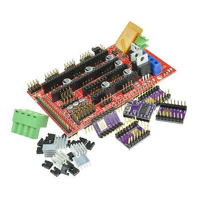 3d Printer Ramps 1.4 Control Board 5pcs Drv8825 Stepstick Motor Driver Module