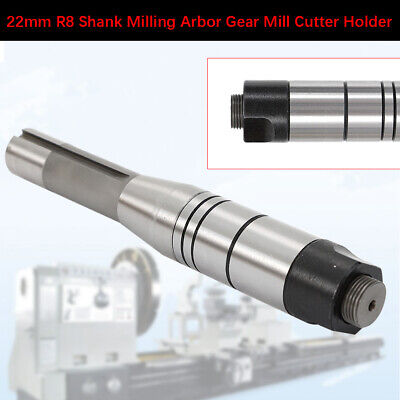 New 22mm R8 Shank Milling Arbor Gear Mill Cutter Holder Toolholding High Quality
