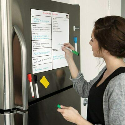 Weekly Magnetic Whiteboard Calendar Dry Erase Board Fridge Planner Organizer