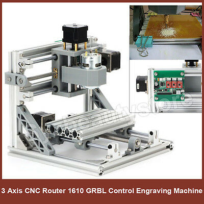 Diy Cnc Router Kit Usb Mini 3 Axis Wood Carving Engraving Machine Pcb Milling