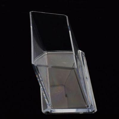 Acrylic Plastic Clear Desktop Business Card Holder Display Stand Desk Shelf Np5