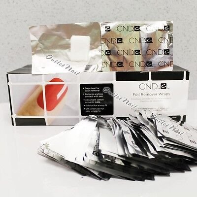 Authentic 250 CND Foil Wrap Removal Wraps 250-ct Gel Lacquer Remover SHIP IN 24H