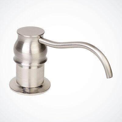 NEW Euro Modern Kitchen Sink Faucet Soap Dispenser Brushed Nickel Pump & Bottle