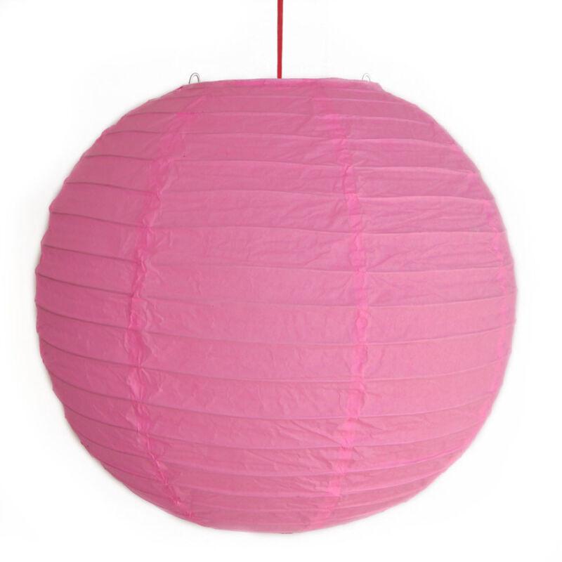 """2 of 12"""" Chinese Pink Paper Lanterns"""