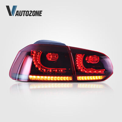 Rear LED Tail Light Lamps Fit For Volkswagen VW Golf 6 MK6 2011-2014 GTI Set - Gti Led Tail Lights Lamps