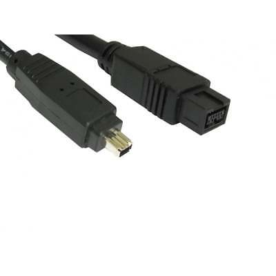 2m Firewire 800 to 400 9 Pin to 4 Pin Cable IEEE1394B PC Mac DV OUT CAMCORDER
