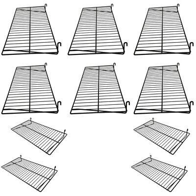 10 Pc Gloss Black 24 X 12 Wire Grid Shelf Shelves Gridwall Display Fixture