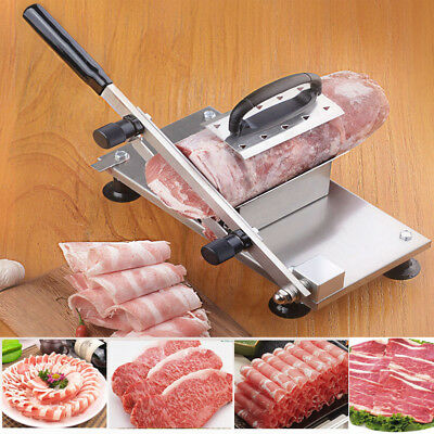 Manual Stainless Steel Frozen Meat Slicer Beef Chicken Slicing Cutter Machine Us