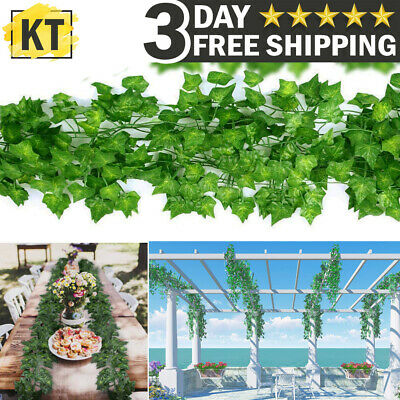 Fake Ivy Leaves (Artificial Fake Hanging Plant Foliage Flowers Ivy Vine Garland Leaves Home)