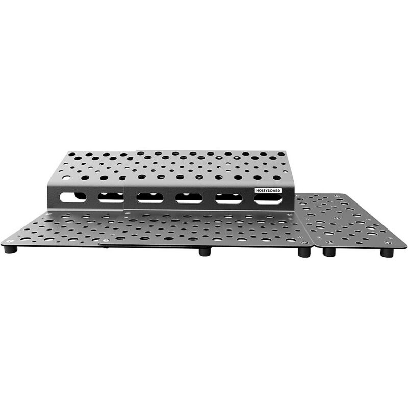 Holeyboard Pedalboards 123 Complete Pedalboard Package Stealth Black