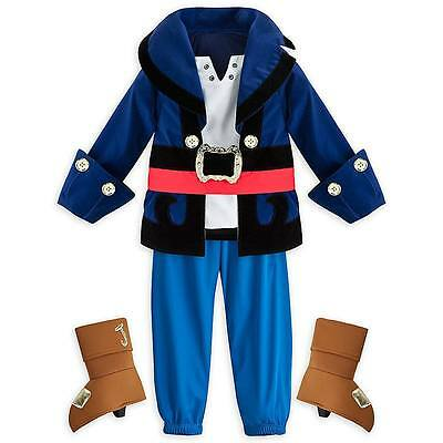 Disney Store Captain Jake & the Neverland Pirates Boys Costume sz 2 3 4 5/6 7/8 - Jake The Pirate Costume