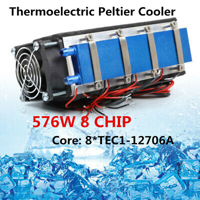 576w Thermoelectric Peltier Cooler 8 Chip Tec1-12706 Diy Air Cooler Device 12v