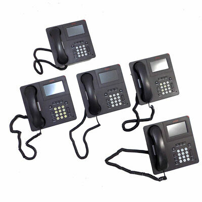 (Lot of 5) Avaya 9621G Multi-Line VoIP Business Conference Telephones PoE