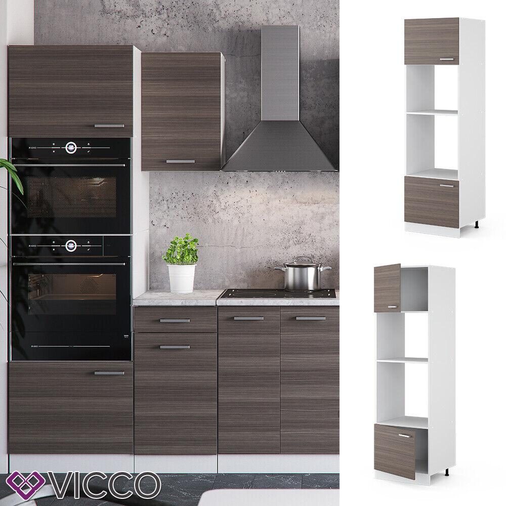 VICCO Küchenschrank Hängeschrank Unterschrank Küchenzeile R-Line Mikrowellenumbauschrank 60 cm edelgrau