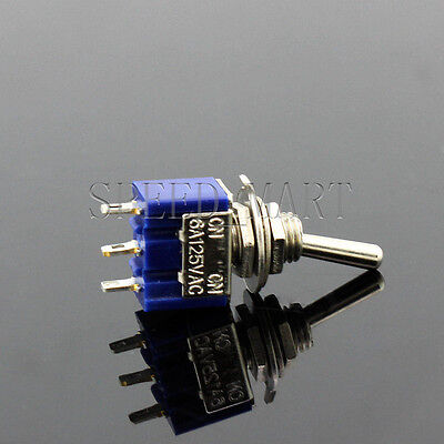 Mini Slide Toggle Switch Switches 6a 125vac 3 Pins Spdt On-off-on Mts-103