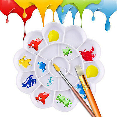 18 Grid Watercolor Plastic Oil Paint Painting Tray Mixing Palette Artist Drawing - Paint Tray
