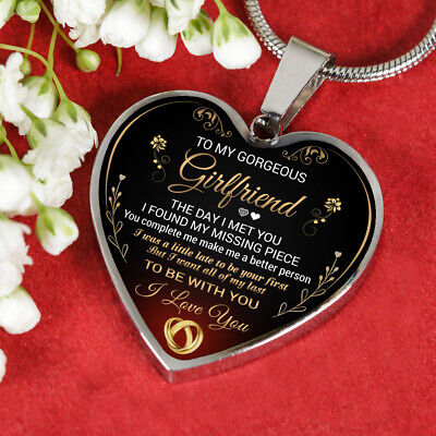 To My GIRLFRIEND Necklace Best Gift For Girlfriend From