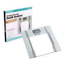 Electronic Digital Body Fat & Hydration Bathroom Glass Scale Whit Melbourne CBD Melbourne City Preview