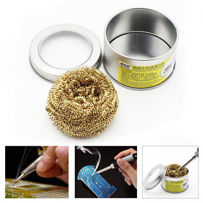 Soldering Iron Tip Cleaner Brass Wire Sponge No Water Needed Copper Clean Ball