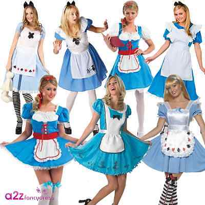 Alice Wonderland Fancy Dress (ALICE IN WONDERLAND  ADULT LADIES BOOK DAY CHARACTER FANCY DRESS COSTUME OUTFIT)