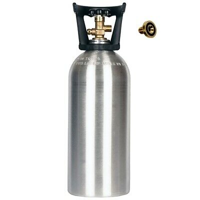 10 Lb Co2 Cylinder New Aluminum Handle - Cga320 - Free Leak Stopper Shipping