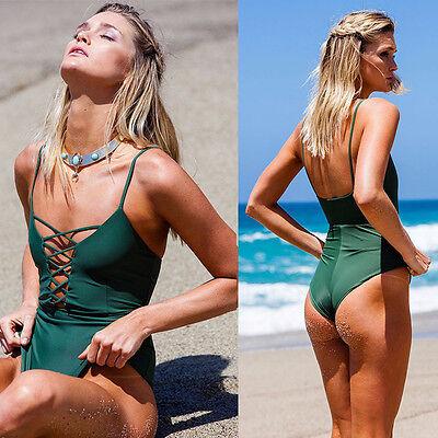 One Piece Swimsuit Sexy Swimwear Women Bathing Suit  Bandage Summer Beach Wear