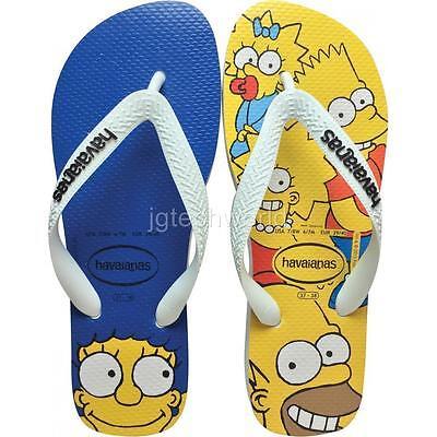 New Women Havaianas Simpsons Sandals Flip Flop Flat Shoes White 5 6 7 8 9 10