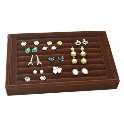 (Velvet Jewelry Ring Earring Display Box Tray Holder Storage Showcase Organizer*1)