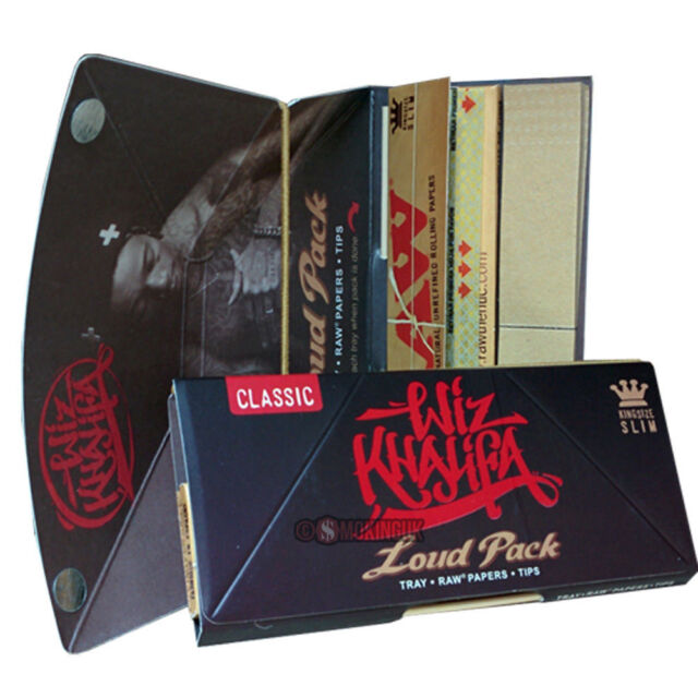 Wiz Khalifa - Loud Pack - King Size Slim RAW Classic Rolling Papers
