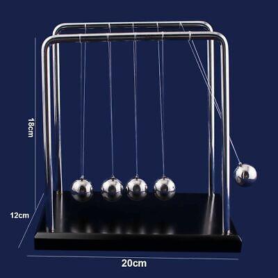 Newtons Cradle Steel Balance Ball Fun Decoration Physics Science Toy Xmas Gift