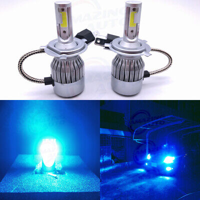 CREE H4 HB2 9003 55W 8000LM LED Headlight Kit Hi/Lo Power Bulb 8000K Ice Blue