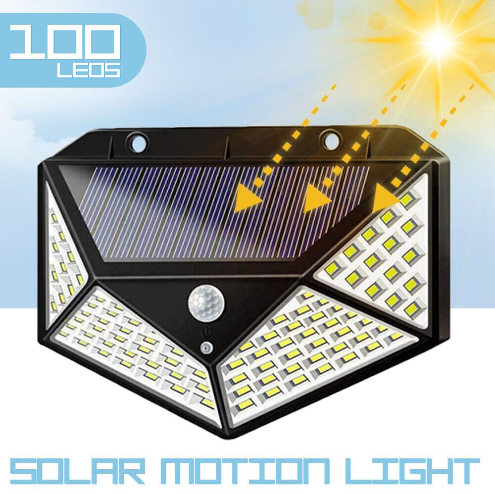100 led solar power pir motion sensor