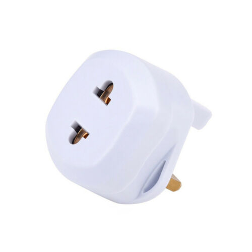 Shaver Adapter Plug UK To 2 Pin Socket Plug Fuse Bathroom ...