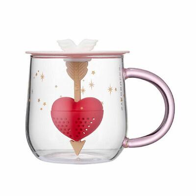 Starbucks Korea Colorchanging tea infuser glass 414ml 2021 Valentine