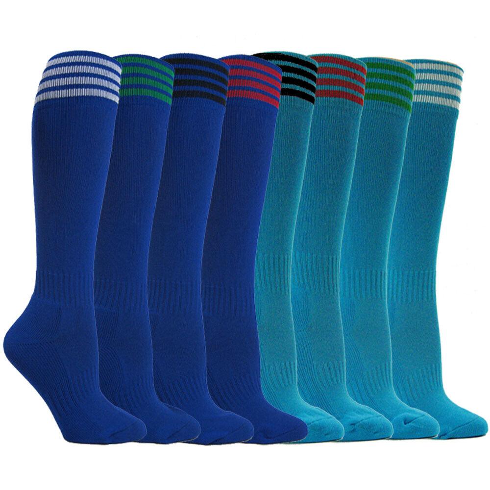 Youth Soccer Socks Boys Girls Knee High Athletic Socks Footb
