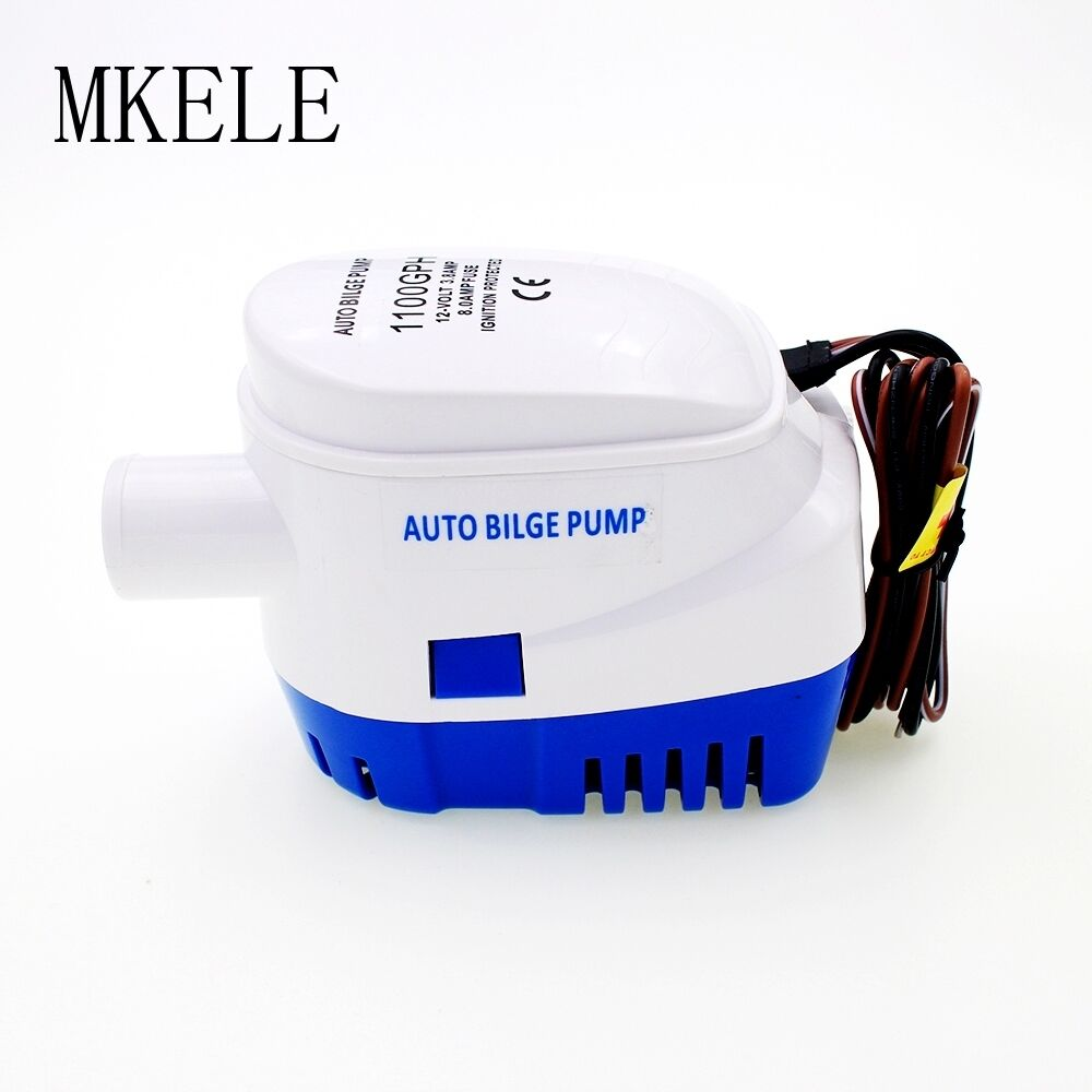 1100GPH 12V DC Automatic Bilge Water Auto Pump Submersible Float Switch