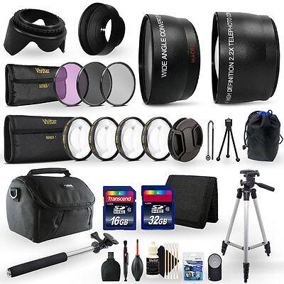 48GB Top Accessory Kit for Canon EOS Rebel T3i Digital SLR Camera