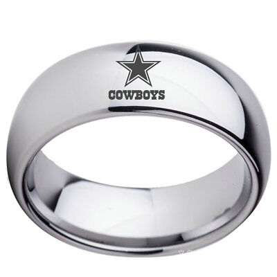 Dallas Cowboys Gifts (Dallas Cowboys Football Team Stainless Steel Men's Band RingGifts Size)