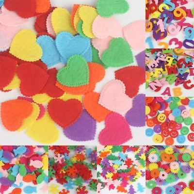 Round/Crown/Flower/Number Letters Felt Fabric Accessory Patches Circle Felt Pads](Felt Flower Crown)