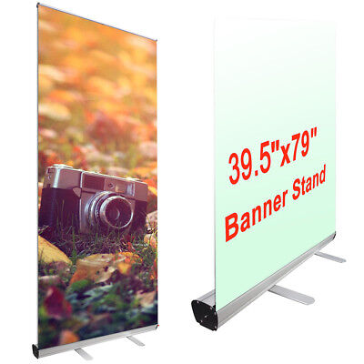 2pcs Economy 39.5x79 Retractable Roll Up Banner Stand Trade Show Sign Display